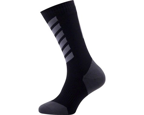Sealskinz Seal Skinz Mid Mid Hydrostop Waterproof Sock (Black) (S)
