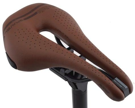 Selle Italia Novus Boost Gravel Heritage Superflow Saddle (Brown) (Titanium Rails) (L3) (148mm)