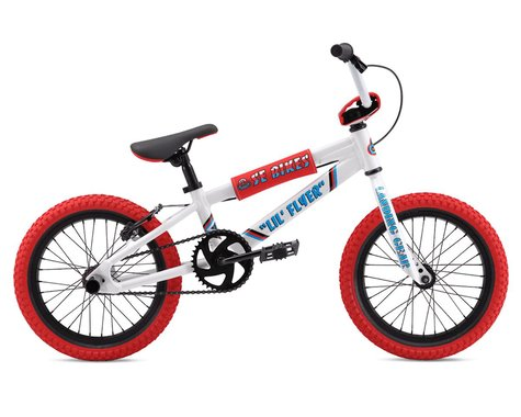 """SE Racing Lil Flyer 16"""" BMX Bike (White) (16.5"""" TopTube)"""
