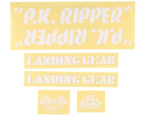 SE Racing PK Ripper Decal Set (White)
