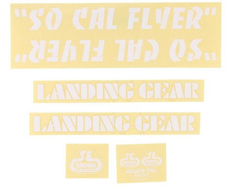 SE Racing So Cal Flyer Decal Set (White)