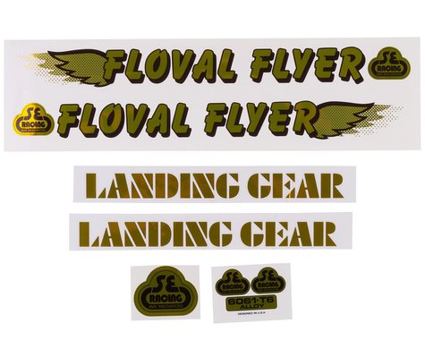 SE Racing Floval Flyer Decal Set (Gold)