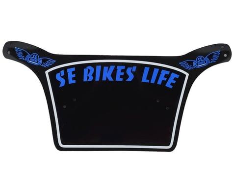 SE Racing Bikes Life Number Plate (Black/Blue)