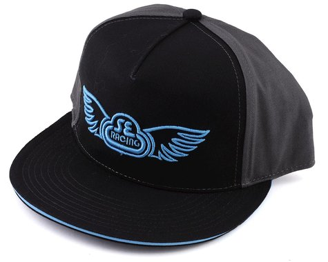 SE Racing Wing Logo Hat (Black/Grey) (One Size Fits Most)