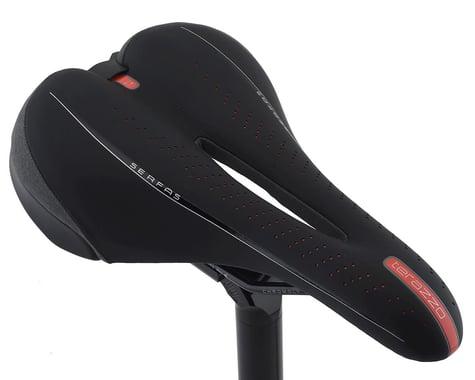 Serfas Terazzo Men's Mountain Saddle (Black) (Chromoly Rails) (165mm)