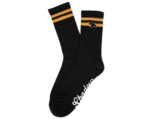 The Shadow Conspiracy Finest Crew Sock (Black/Gold) (One Size Fits Most)