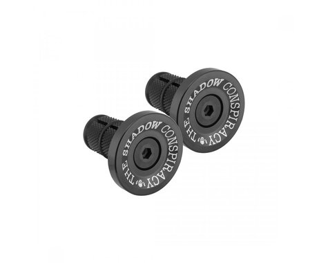 The Shadow Conspiracy Deadbolt Alloy Bar Ends (Black) (Pair)