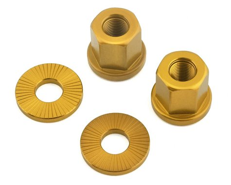 The Shadow Conspiracy Featherweight Alloy Axle Nuts (Gold) (3/8)