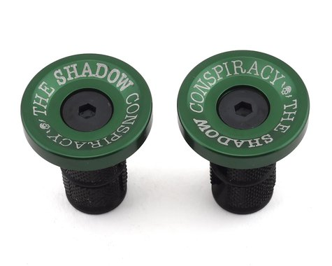 The Shadow Conspiracy Deadbolt Alloy Bar Ends (Pair) (British Racing Green)