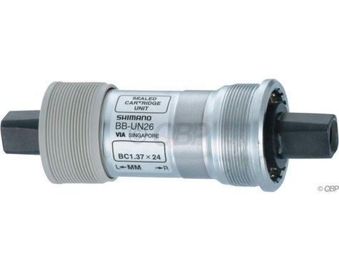 Shimano UN26 Square Taper Bottom Bracket (Silver) (BSA) (68mm) (117.5mm)