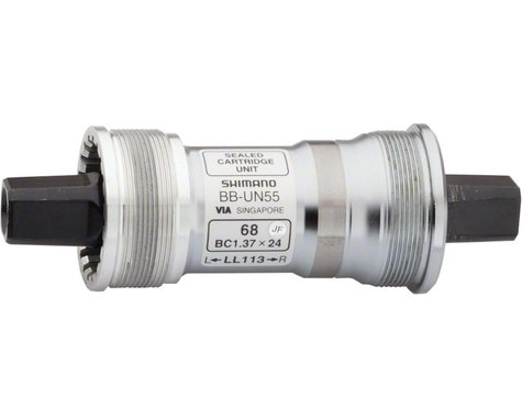 Shimano UN55 Square Taper Bottom Bracket (Silver) (Italian) (70mm) (107mm)