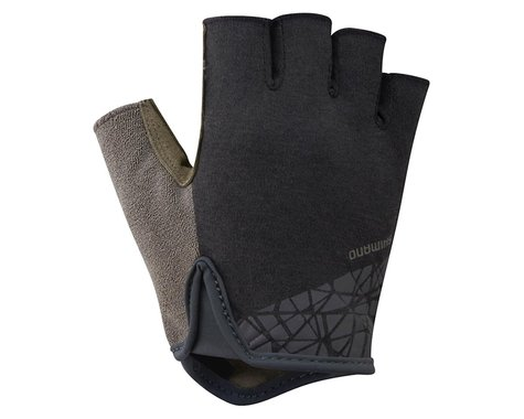 Shimano Transit Short Finger Gloves (Black/Brown)