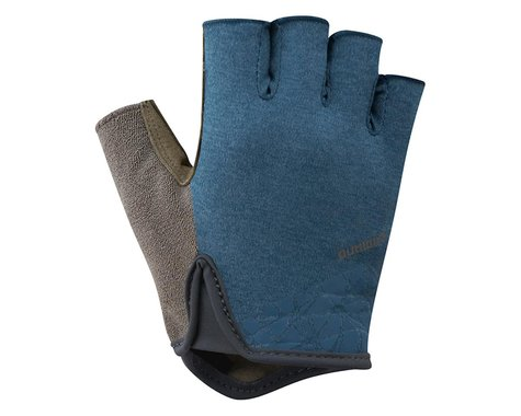 Shimano Transit Short Finger Gloves (Navy/Brown)