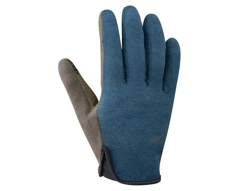 Shimano Transit Full Finger Gloves (Navy/Brown)