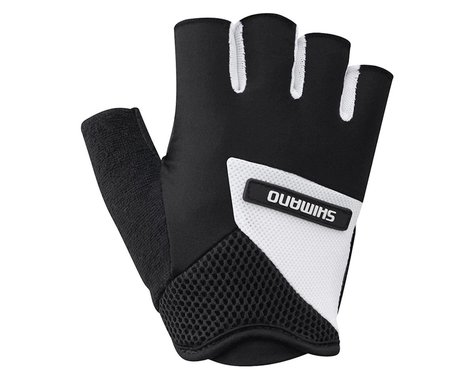 Shimano Airway Short Finger Gloves (Black/White) (S)