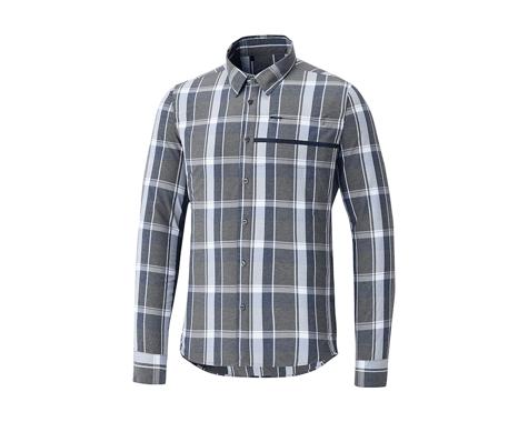 Shimano Transit Check Button Up Shirt (Navy Blazer)