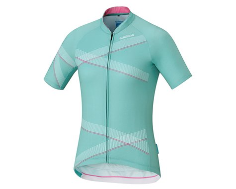 Shimano Wmen's Team Jersey (Light Green/White)
