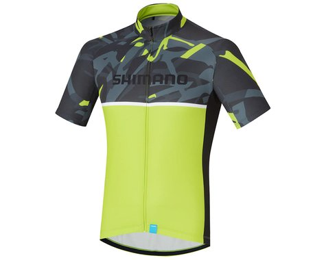 Shimano Team Jersey (Green Camo/Yellow)