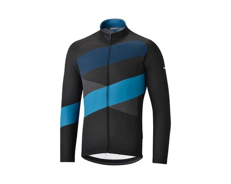 Shimano Shimano Thermal Team Jersey Black/Blue (BLACK BLUE)