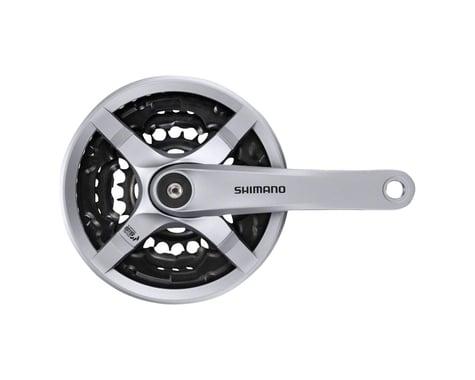 Shimano Tourney FC-TY501 Crankset - 170mm, 6/7/8-Speed, 42/34/24t, Riveted, Squa