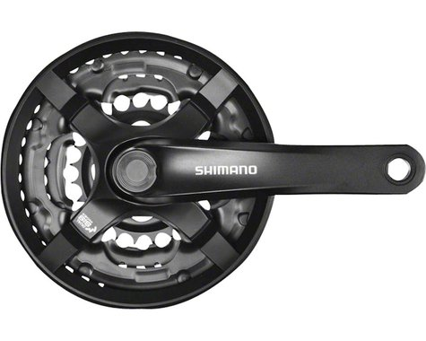 Shimano Tourney FC-TY501 Crankset (Black) (3 x 6/7/8 Speed) (Square Taper) (170mm) (48/38/28T)