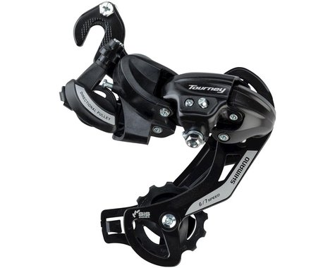 Shimano Tourney TY500 6/7-Speed Rear Derailleur w/ Frame Hanger (Long Cage)