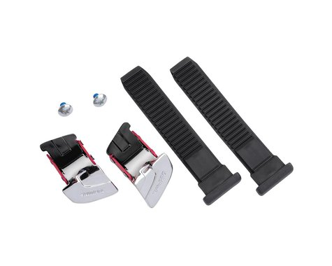 Shimano Universal Large Buckle and Strap Set (Black/Silver) (One Size)