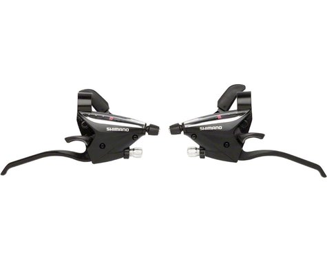 Shimano ST-EF65 Brake/Shift Lever Set (Black) (3x7-Speed)