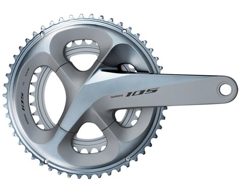 Shimano 105 FC-R7000 Crankset (Silver) (2 x 11 Speed) (Hollowtech II) (175mm) (50/34T)