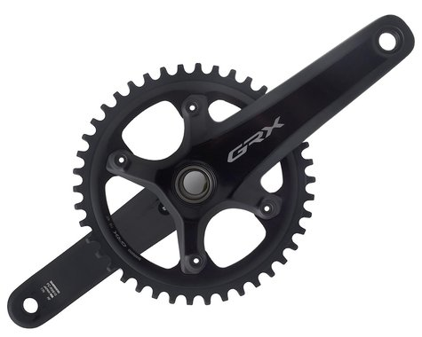 Shimano GRX FC-RX810 Crankset (Black) (1 x 11 Speed) (Hollowtech II) (170mm) (42T)