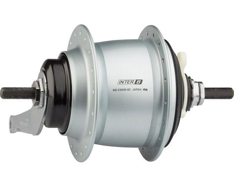 Shimano Nexus SG-C6000-8C Internally Geared Coaster Brake Rear Hub Kit (Silver) (36H)