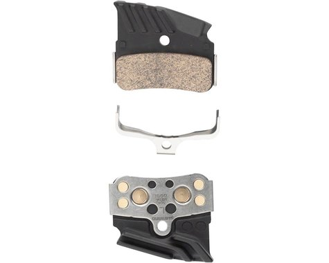 Shimano N04C Finned Metal Disc Brake Pad with Spring