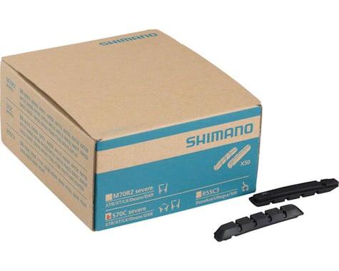 Shimano S70C V-Brake Pad Inserts (Black) (50 Pairs)