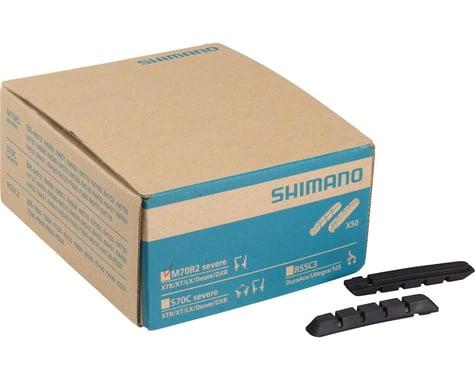 Shimano M70R2 Severe Condition V-Brake Pad Inserts (Black) (50 Pairs)