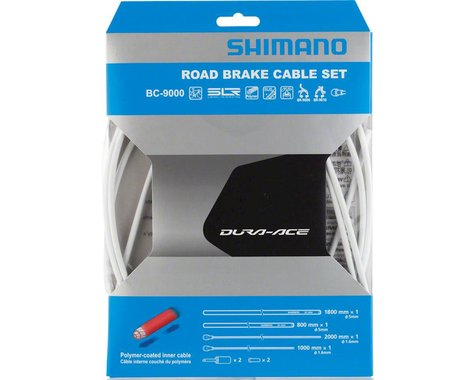 Shimano Dura-Ace BC-9000 Polymer-Coated Road Brake Cable Set (White)