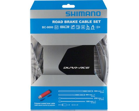 Shimano Dura-Ace BC-9000 Polymer-Coated Road Brake Cable Set (High-Tech Gray)