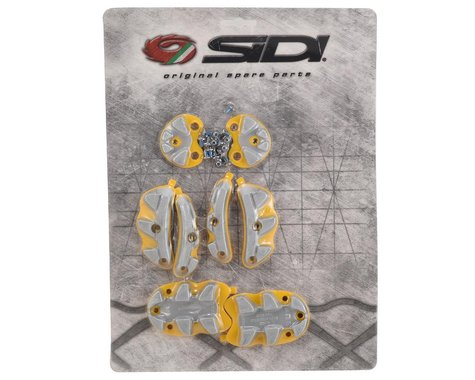 Sidi SRS Replacement Traction Pads for Spider Shoes (Grey/Yellow) (45-48)