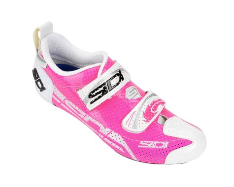 Sidi Women's T4 Air Carbon Triathlon Shoes (White/Pink)