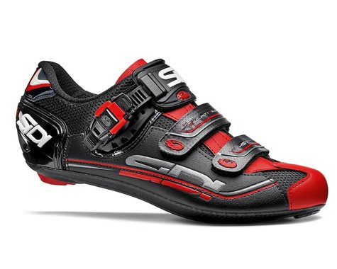 Sidi Genius 7 Carbon Road Shoes (Black/Red) (42.5)
