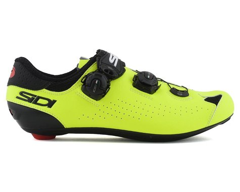 Sidi Genius 10 Road Shoes (Black/Flo Yellow) (44.5)