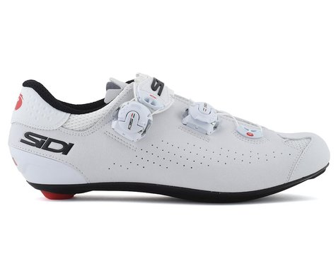 Sidi Genius 10 Road Shoes (White/Black) (45)