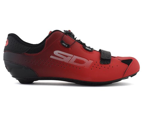 Sidi Sixty Road Shoes  (Black/Red) (41)