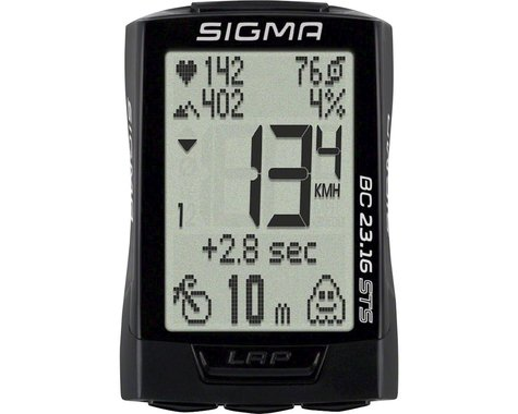 Sigma BC 23.16 STS Triple Bike Computer (Black) (Wireless)