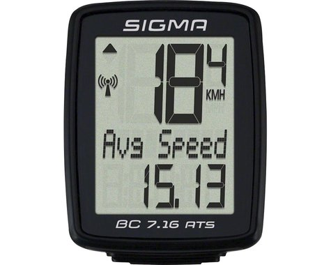 Sigma BC 7.16 ATS Bike Computer (Black) (Wireless)