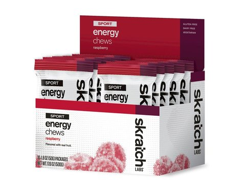 Skratch Labs Sport Energy Chews (Raspberry) (10 1.7oz Packets)