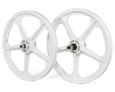 """Skyway Tuff Wheel II 20"""" Wheel Set (White) (14mm Rear Axle)"""