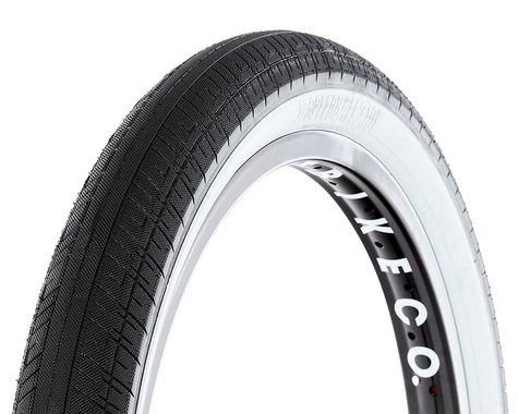 S&M Speedball Tire (Black/Whitewall) (20 x 2.10)