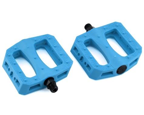 "S&M GNS Pedals (Grip N' Slide) (Pair) (Cyan Blue) (9/16"")"