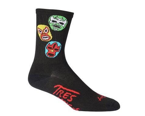 "Sockguy SGX 3 Amigos 6"" Socks (Black)"