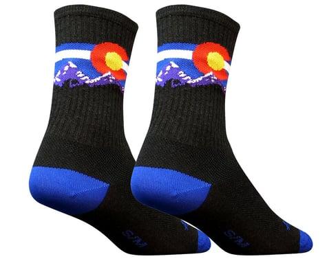 """Sockguy 6"""" Socks (Colorado Mtn) (S/M)"""
